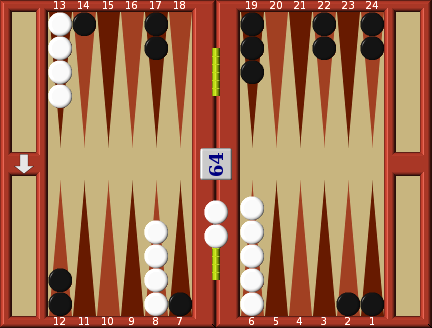 Backgammon middle game double