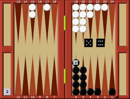 Example Running game | Backgammon Strategy