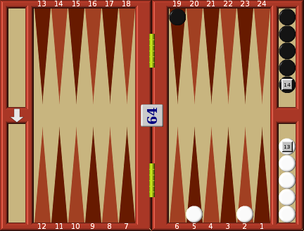 Running game doubles | Backgammon Double