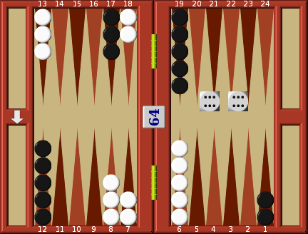 Backgammon moving doubles